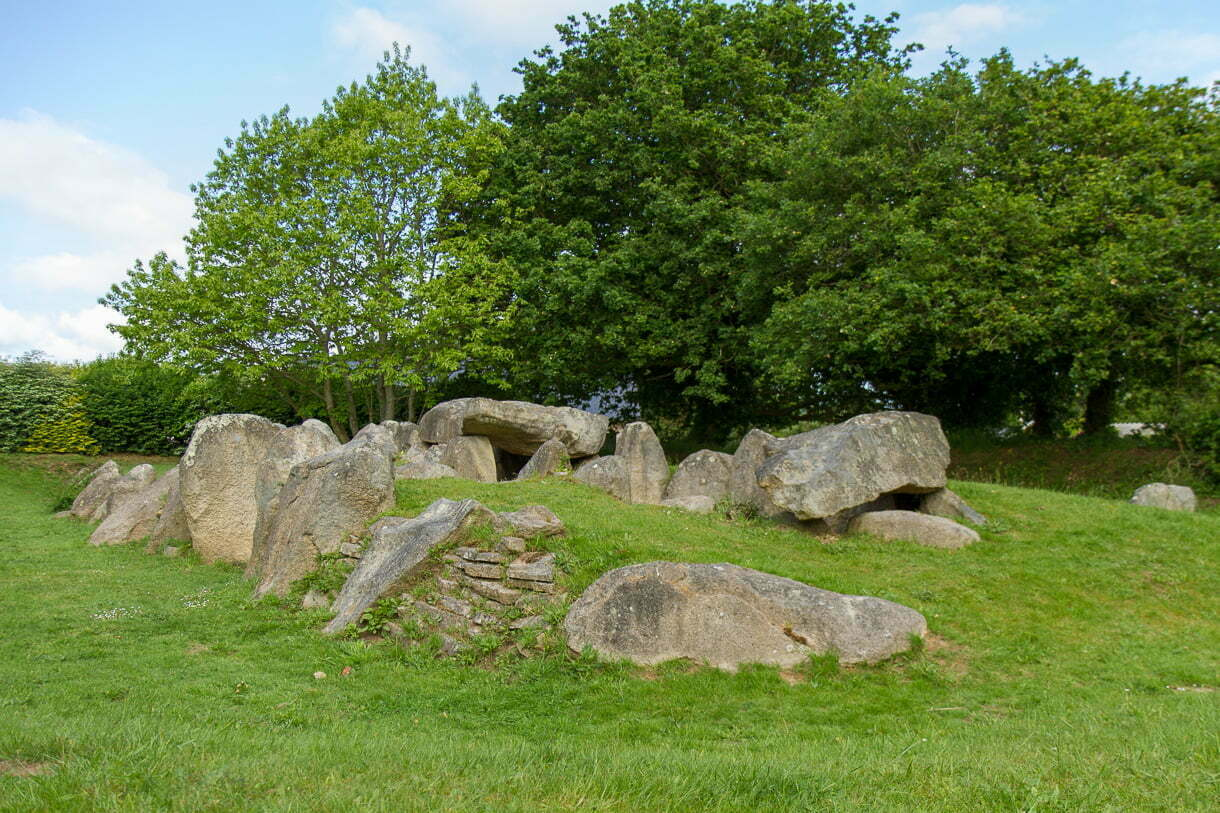 passage grave in a field