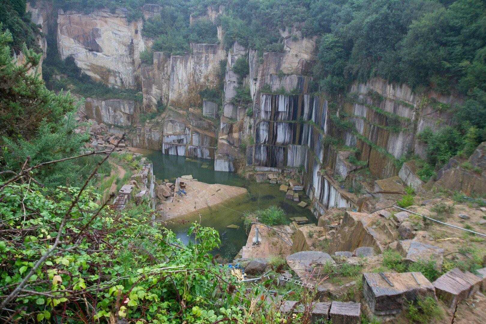 carrière de granit rose à Perros-Guirec
